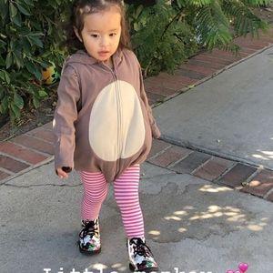 Monkey costume baby girl